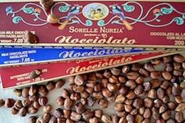 Gianduja-nougat med hela hasselnötter - 100 g