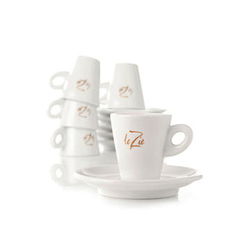 Le Zie Espressoset 6 koppar
